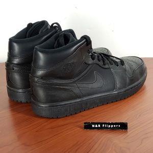 Nike Shoes - Nike Air Jordan 1 Mid Retro Tripple Black Size 8.5